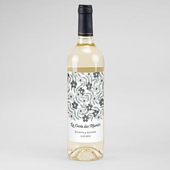 Étiquette bouteille mariage - Anémones - 0