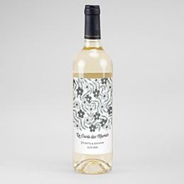 Etiquette bouteille mariage Anémones