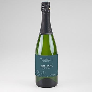 Créer soi même etiquette bouteille mariage constellation