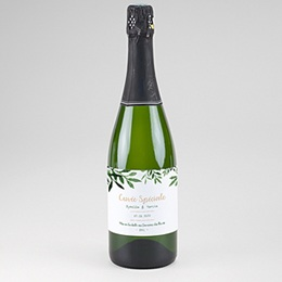 Étiquette bouteille mariage Végétal