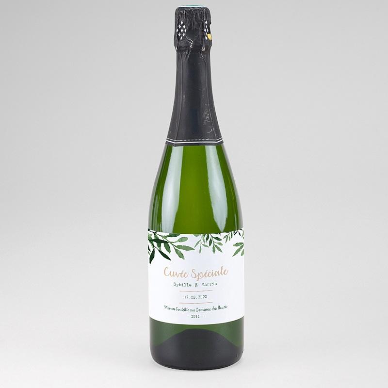 Etiquette bouteille mariage Végétal