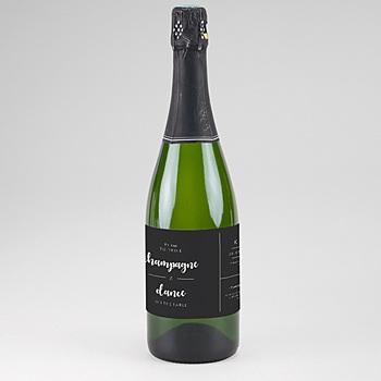 Etiquette bouteille mariage minimal chic à personnaliser