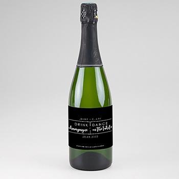 Etiquette bouteille mariage minimaliste chic sur mesure