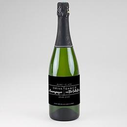 Etiquette bouteille mariage Minimaliste Chic