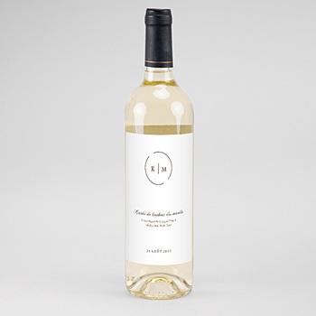 Étiquette bouteille mariage - Modern Nude - 0