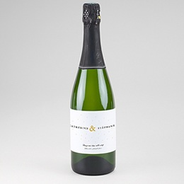 Etiquette bouteille mariage Touches d'or