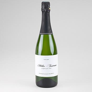 Acheter etiquette bouteille mariage végétal minimal