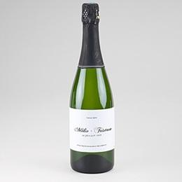 Etiquette bouteille mariage Végétal minimal