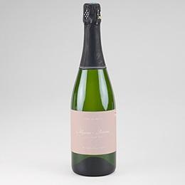 Étiquette bouteille mariage Rose Botanique