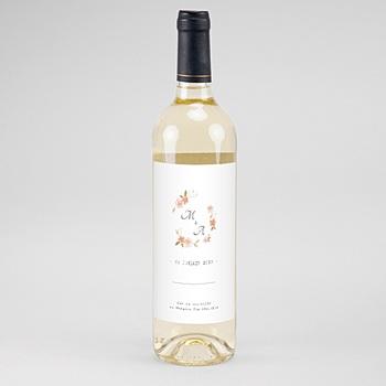 Étiquette bouteille mariage - Rose Botanique - 0