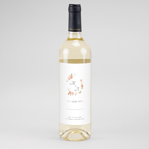 Étiquette bouteille mariage - Rose Botanique 61168 thumb