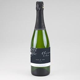Étiquette bouteille mariage Esquisse Florale