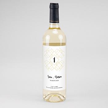 Étiquette bouteille mariage - Alhambra - 0