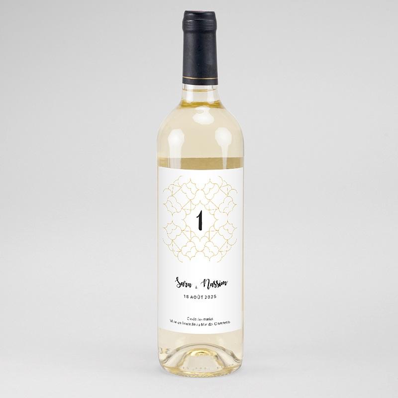 Étiquette bouteille mariage - Alhambra 61180 thumb