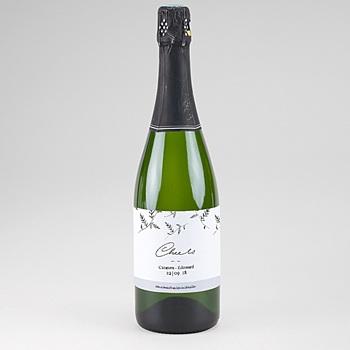 Etiquette bouteille mariage Kraft et Brindilles