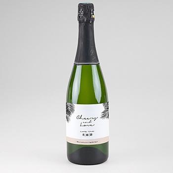 Étiquette bouteille mariage - Oasis Dorée - 0