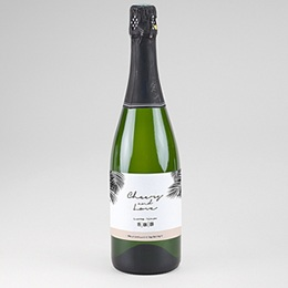 Etiquette bouteille mariage Oasis Dorée