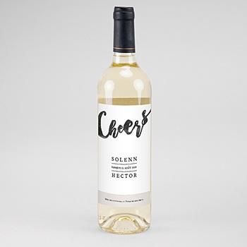 Étiquette bouteille mariage - Nouvelle Aventure - 0
