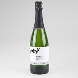 Étiquette bouteille mariage Nouvelle Aventure