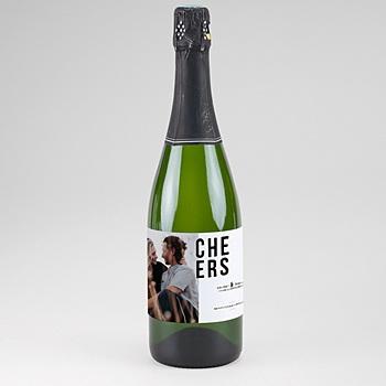 Étiquette bouteille mariage - Photo & Typo - 0