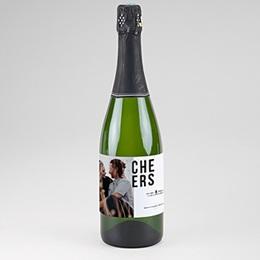 Etiquette bouteille mariage Photo & Typo