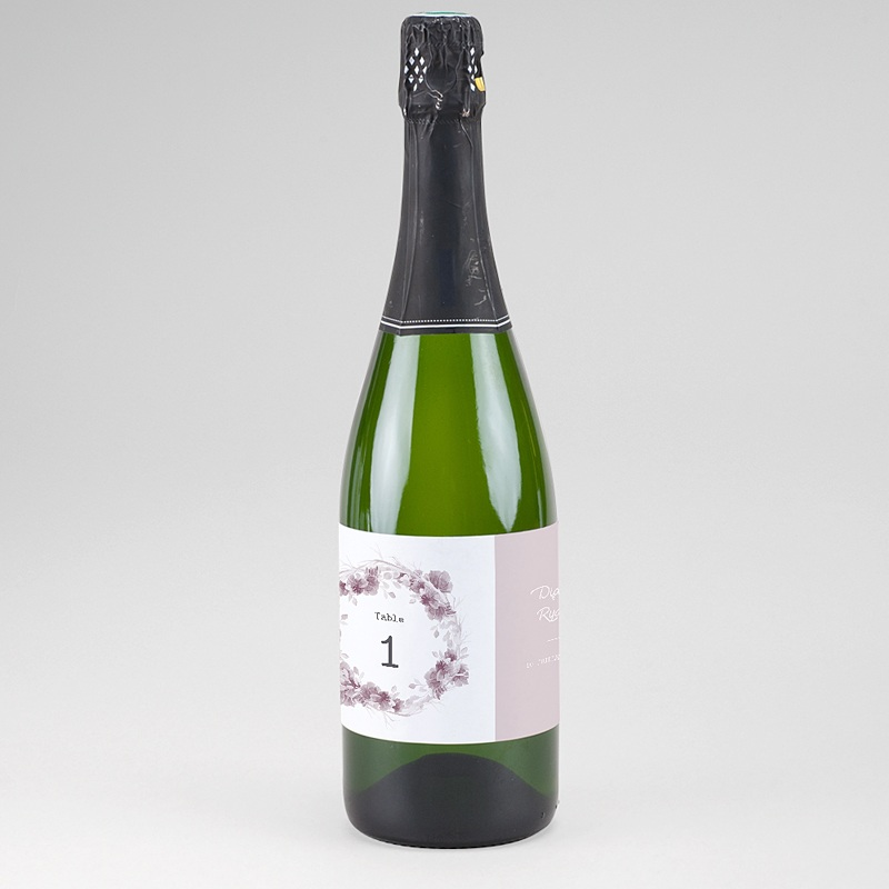 Étiquette bouteille mariage - Vintage Chic Rose 61249 thumb