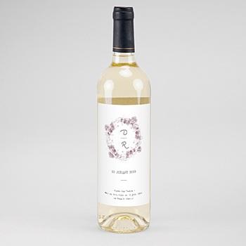 Étiquette bouteille mariage - Vintage Chic Rose - 0