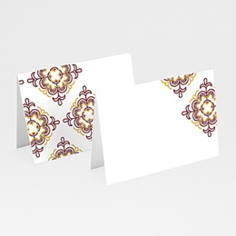 Marque place mariage Rouge Ottoman
