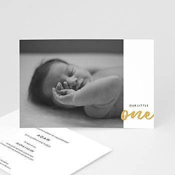 Faire-part naissance garçon - Little One - 0