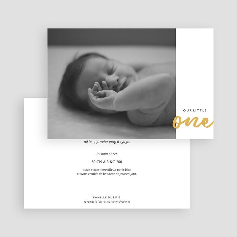 Faire-part naissance garçon Little One gratuit