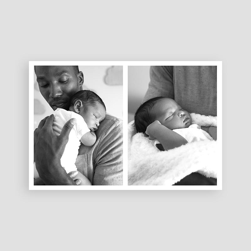 Carte remerciement naissance garçon Little One pas cher