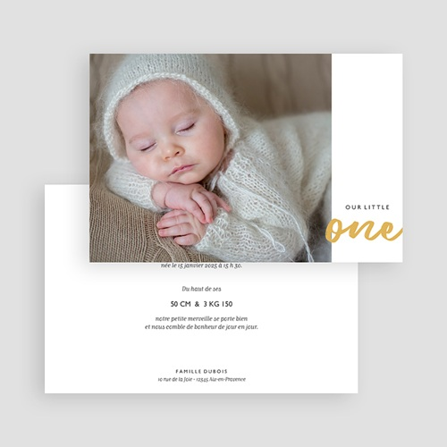 Faire-Part Naissance Fille Our Little One gratuit