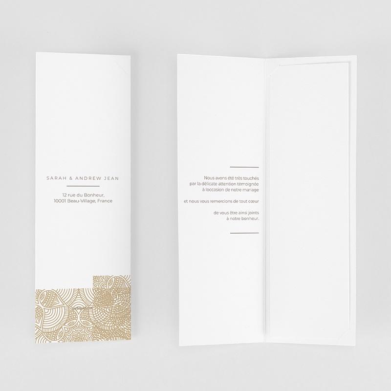 Carte Remerciement Mariage Chic Constantinopolis gratuit