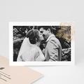 Carte Remerciement Mariage Photo Oasis Dorée