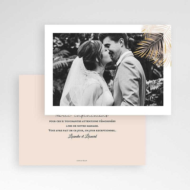 Carte Remerciement Mariage Photo Oasis Dorée pas cher