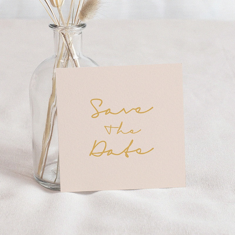 Save The Date Mariage Oasis Dorée