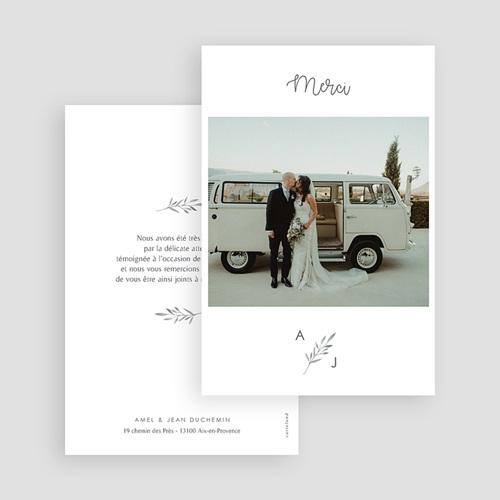 Carte remerciement mariage chic Rameaux Aquarelle gratuit
