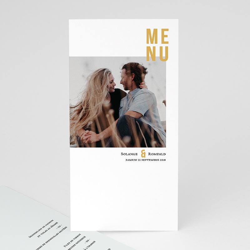 Menu Mariage Photo & Typo