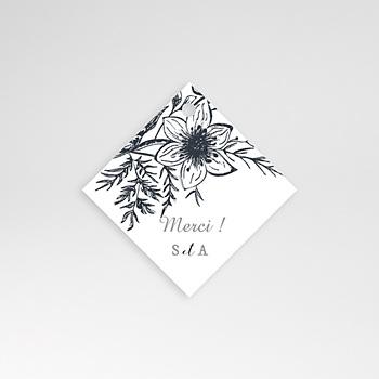 Etiquette mariage esquisse florale
