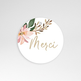 Etiquette Mariage Douceur des fleurs