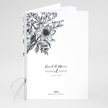 Créer soi même livret messe mariage esquisse florale
