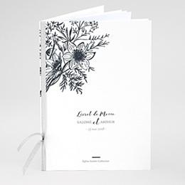 Livret de Messe Mariage Esquisse Florale