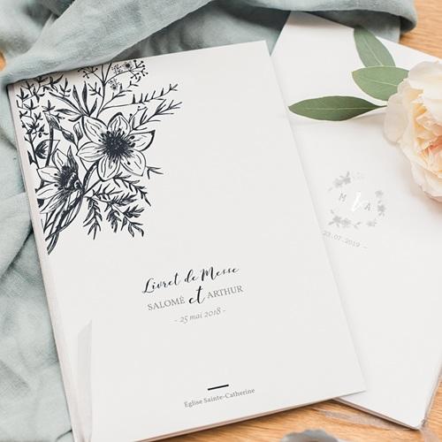 Livret Messe Mariage Esquisse Florale pas cher