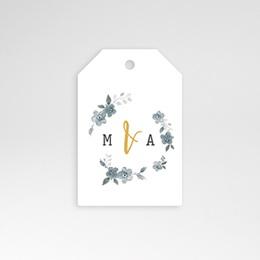 Etiquette mariage Bleu botanique
