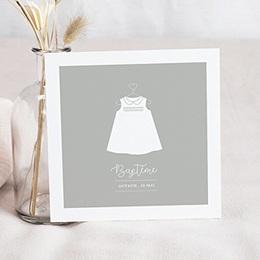 Faire-Part Baptême Robe de lumière