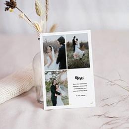 Carte remerciement mariage photo Nouvelle Aventure