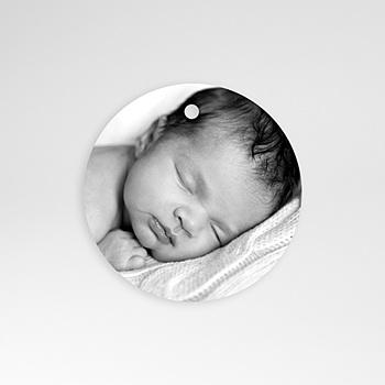 Etiquette naissance initiale sur mesure