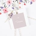 Etiquette Cadeau Mariage Vintage Rose Chic  gratuit
