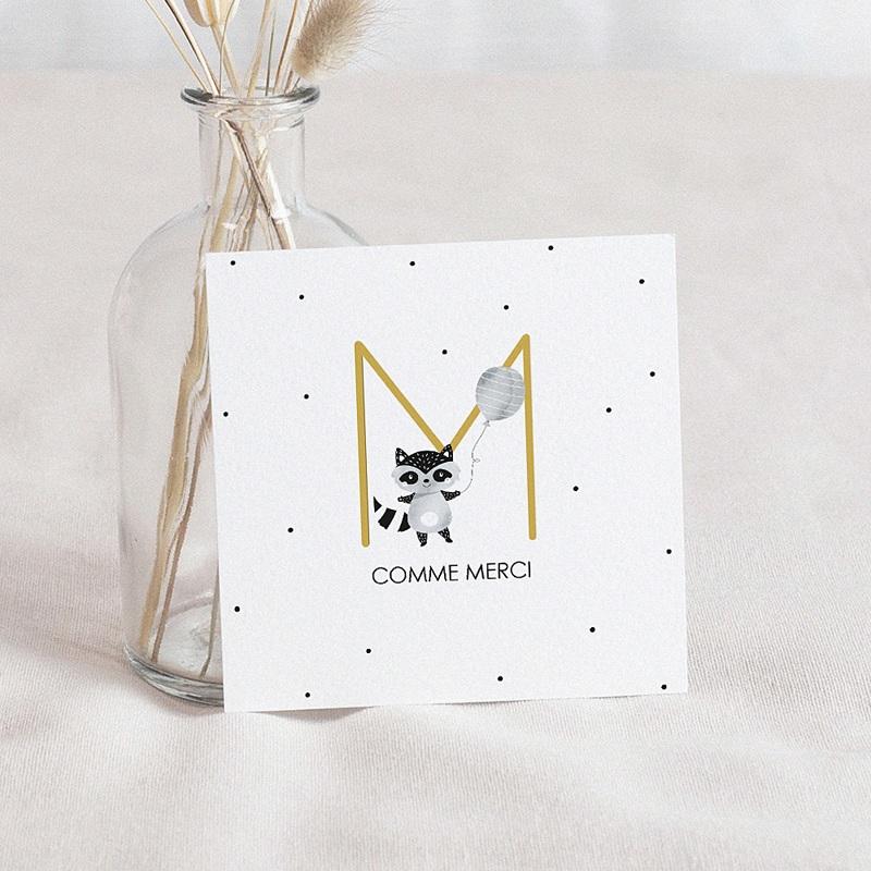 Carte Remerciement Naissance Originale Initiale