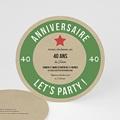 Carte invitation anniversaire 40 ans Bière Allemande